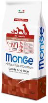Monge Dog Speciality для щенков всех пород ягнёнок/рис/картофель