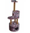 Домик-когтеточка для кошек Круглый с площадкой и полкой 550х500х1470 Д551